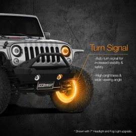 Amber turn signal functionality via RGB wheel light