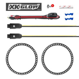 2pc 7in Jeep Halos. 2pc XKchrome Turn Signal Controller