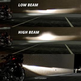 High Beam & Low Beam jeep headlight