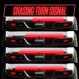Chasing Turn Signal displaying the even flow of jeep tailgate light