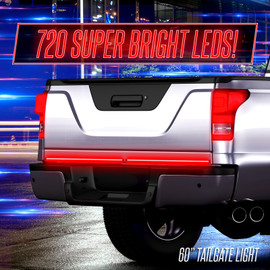 720 Super Bright LEDs display on truck tailgate light