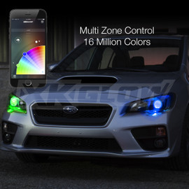 Multi Zone Control & 16 Million Colors via smartphone app to display multiple colors to headlight.