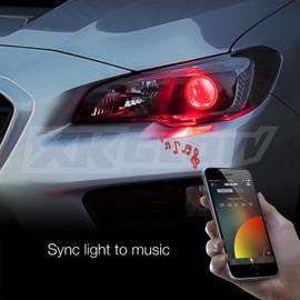 Use smartphone to sync RGB Devil eye to music beats.