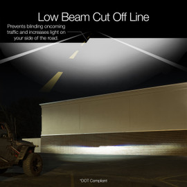 Low Beam Cut Off Line prevents blinding oncoming traffic and keeps light on your side of the road.
