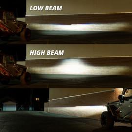 Low Beam & High Beam Light output
