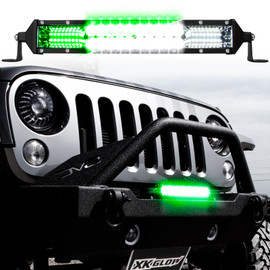 2-in-1 LED Light Bar w/Pure White & Green Hunting Fishing Modes