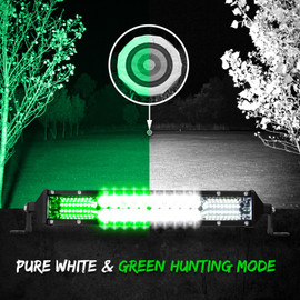 Pure White & Green Hunting Mode used to illuminate a large field and a target in the distance