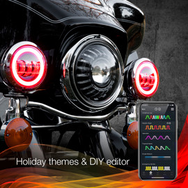 Holiday Theme & DIY Presets to display selected options color theme to driving lights.