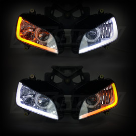 2pc Sequential Switchback LED Strip Kit used in headlight assembly to show active turn signal