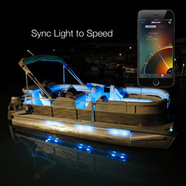 Sync boat lights to the vehicles momentum via the app.