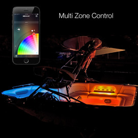 Multi Zone Control & 16 Million Colors used to display colors onto boat kit via smartphone controller