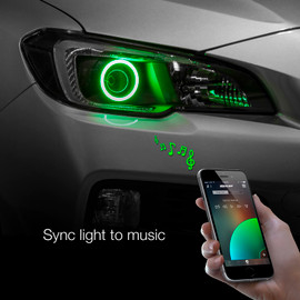 Use smartphone to sync Halo light to music beats.