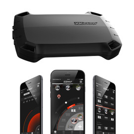 Titan controller and App displaying Power, Music and Lighting Control features