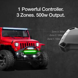 1 Powerful Controller. 3 Zones. 500w Ouput. Zone 1 - 100W output. Zone 2 - 200W output. Zone 3 - 300W output.