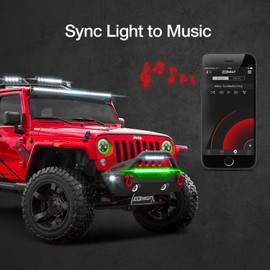 Use smartphone with titan controller to sync lights to music beats.