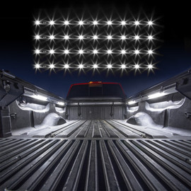 4pc White 12 in Tubes Lighting Truck Bed.