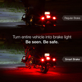 Smart Brake Feature. Automatically apply red lights when brakes are used.
