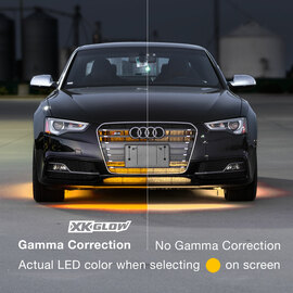 Gamma Correction is used to properly display the correct color.