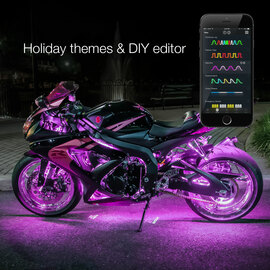 Holiday Theme & DIY Presets used to display selected options colors via XKchrome motorcycle lights.