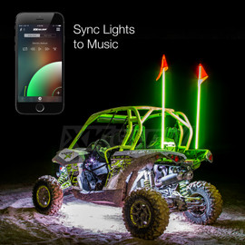 Use smartphone to sync UTV / ATV lights to music beats.