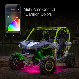 Multi Zone Control & 16 Million Colors used with UTV / ATV Light Kits via smartphone controller