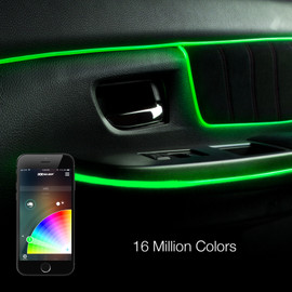 Multi Zone Control and 16 million colors used with fiber optic interior light.