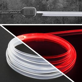 6ft fiber optic roll with even light filling entire tube