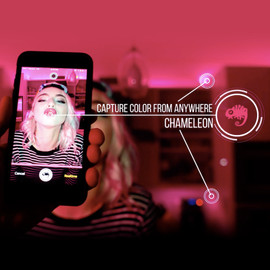 Capture live colors with Camera via smartphone app to display color onto home kit