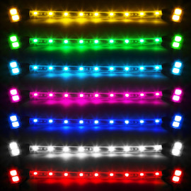 Colors available in Amber, Green, Light Blue, Pink, Blue, White, and Red.