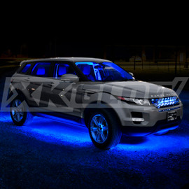 Blue Single color kit illuminating vehicle.