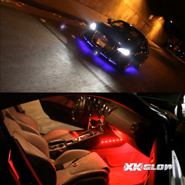 3 Million color kit lighting up vehicle exterior and interior