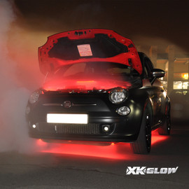 3 Million color kit lighting up Fiat exterior and engine