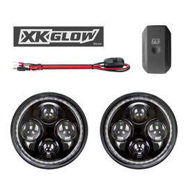 2p 7in Jeep RGB Headlight. On / Off switch. XKchrome Smartphone controller