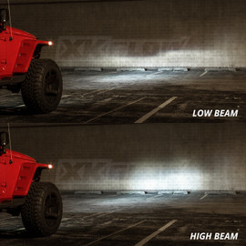 High power low beam and high beam headlight. With clean cut off line.