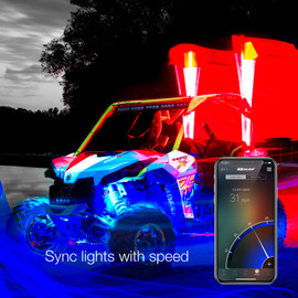 Sync LED Whip lights to your vehicles speed.