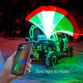 Sync LED Whip lights to the beat of your music.