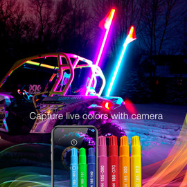 Capture real time colors with your phones camera, to perfectly reflect it onto your lights.