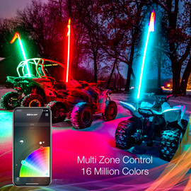 16 Million color options available to choose from.