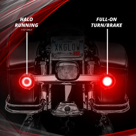 Red Halo for Running. Full on for Brake/Turn