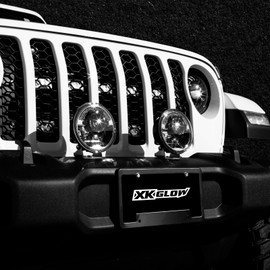 5.75in Laser Headlight on Jeep front bumper