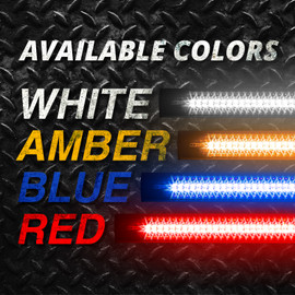 Available Colors: White, Amber, Blue, and Red.
