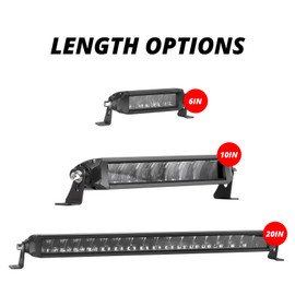 "6""-10""-20"" Auxiliary High Beam LED Razor Light Bar"