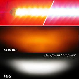 """6""""-10"""" Fog + Strobe  LED Razor Light Bar"""