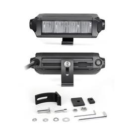 "6""-10"" Fog + Strobe LED Razor SAE Light Bar Kit w/ Switch & Wire"