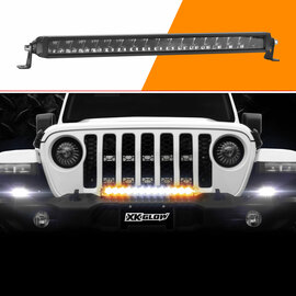 "20"" Fog + Strobe + High Beam LED Light Bar Add-on Without Switch+Wire"