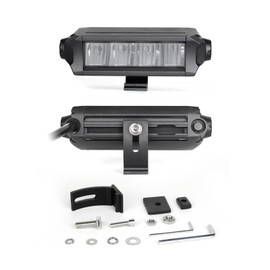 "6""-10"" Fog + Strobe LED Razor SAE Light Bar Add-on Without Switch+Wire"