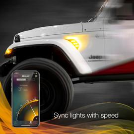 Sync light to speed