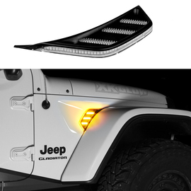 AMBER JEEP JL&JT FENDER VENT TURN SIGNAL & RUNNING LIGHT