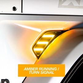 AMBER JEEP JL&JT FENDER VENT TURN SIGNAL & RUNNING LIGHT