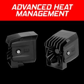 XKchrome 20w Cube Light Beam Round Mount Advanced Heat Management
